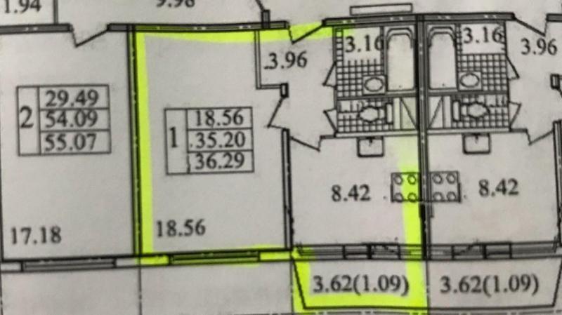 Продажа 1 комнатной квартиры 35,3 м², 3 этаж, Ленинский проспект 74к1 в      Санкт-Петербурге продажа квартиры недорого от собственника, 17сентября2020 - m2.ru